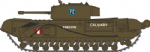 Oxford Diecast NCHT002 Churchill Tank 1st Canadian Army Brg. Dieppe 1942